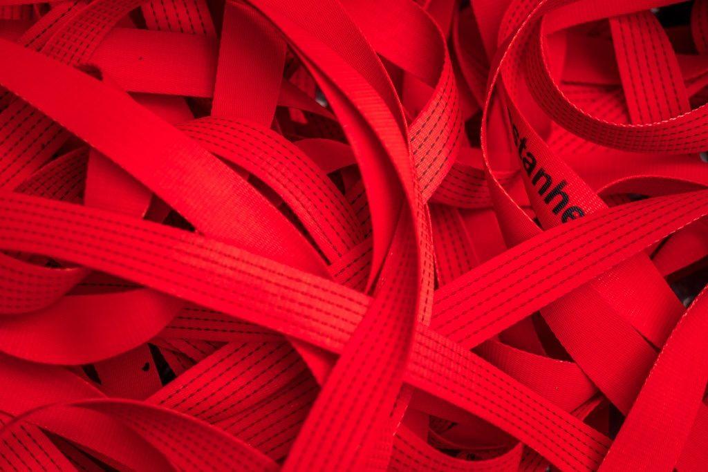 """Fase de produção de """"Por favor, segue a Linha Vermelha"""" (Cristina Ataíde, 2018).[Créditos da Imagem: Cristina Ataíde. 2018-09-06][Cedência: Cristina Ataíde. 2019-07-17]"""