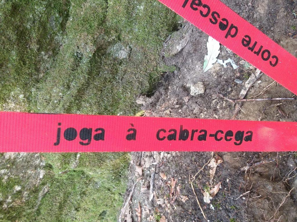 """Pormenor de """"Por favor, segue a Linha vermelha"""" (Cristina Ataíde, 2018).[Créditos da Imagem: Cristina Ataíde. 2018-09-05.][Cedência: Cristina Ataíde. 2019-07-17]"""