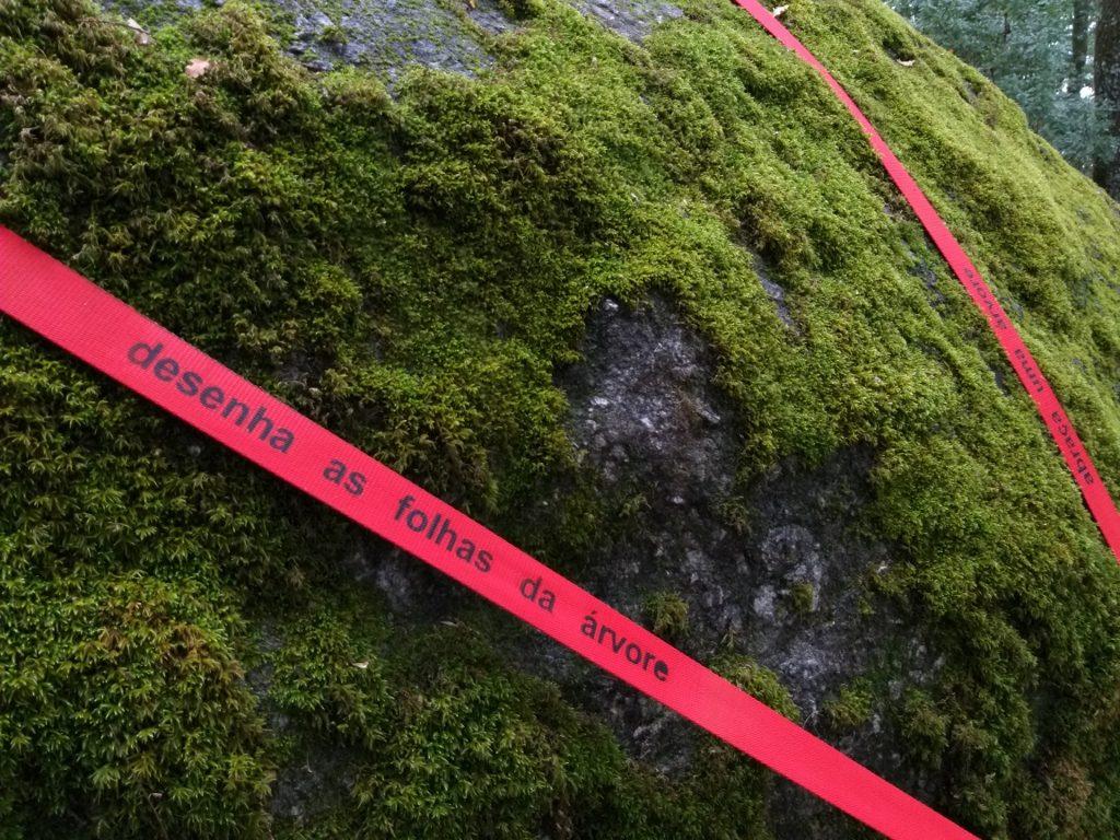 """Pormenor de """"Por favor, segue a Linha vermelha"""" (Cristina Ataíde, 2018).[Créditos da Imagem: Cristina Ataíde. 2018-09-08.][Cedência: Cristina Ataíde. 2019-07-17]"""