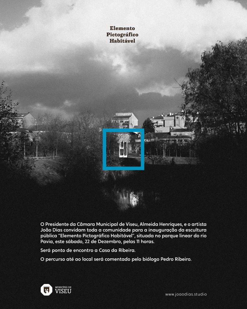 """Convite para a Inauguração de """"Elemento Pictográfico Habitável"""" - 2018-12-22 (João Dias, 2018).[Créditos da Imagem: João Dias. 2018-12.][Cedência: João Dias Studio. 2019-07-15]"""