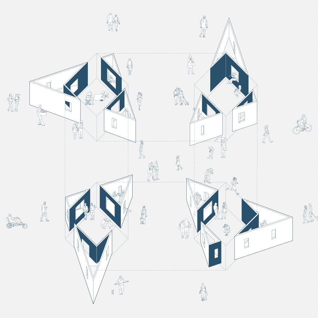"""""""Garden of Framed Scenes"""" (The Open Workshop, 2018) - Desenho Prévio.[Créditos da Imagem: The Open Workshop. 2018.][Cedência: The Open Workshop. 2019-07-18.]"""