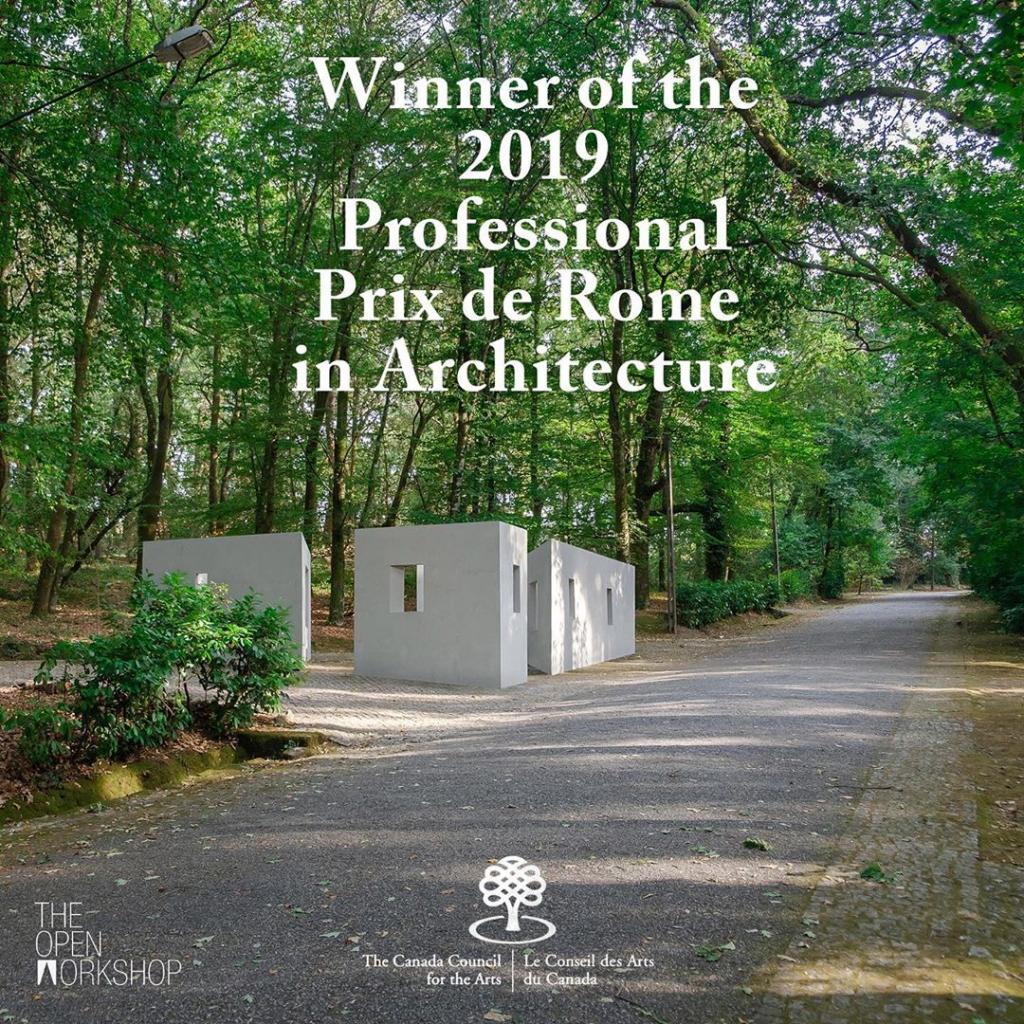 """""""Prix de Rome in Architecture"""" winning anoucement; """"Garden of Framed Scenes"""" (The Open Workshop, 2018).[Créditos da Imagem: The Open Workshop. 2019-08.][Cedência: The Open Workshop. 2019-08-20.]"""