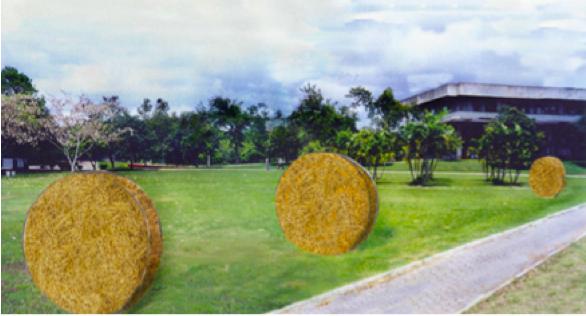 """Maquete digital da Instalação de """"JUNHO: breves anotações sobre o tempo"""" (José Cirillo, 2009-2014).[Créditos da Imagem: José Cirillo p/ Arte Pública Capixaba. 2009-03.]"""