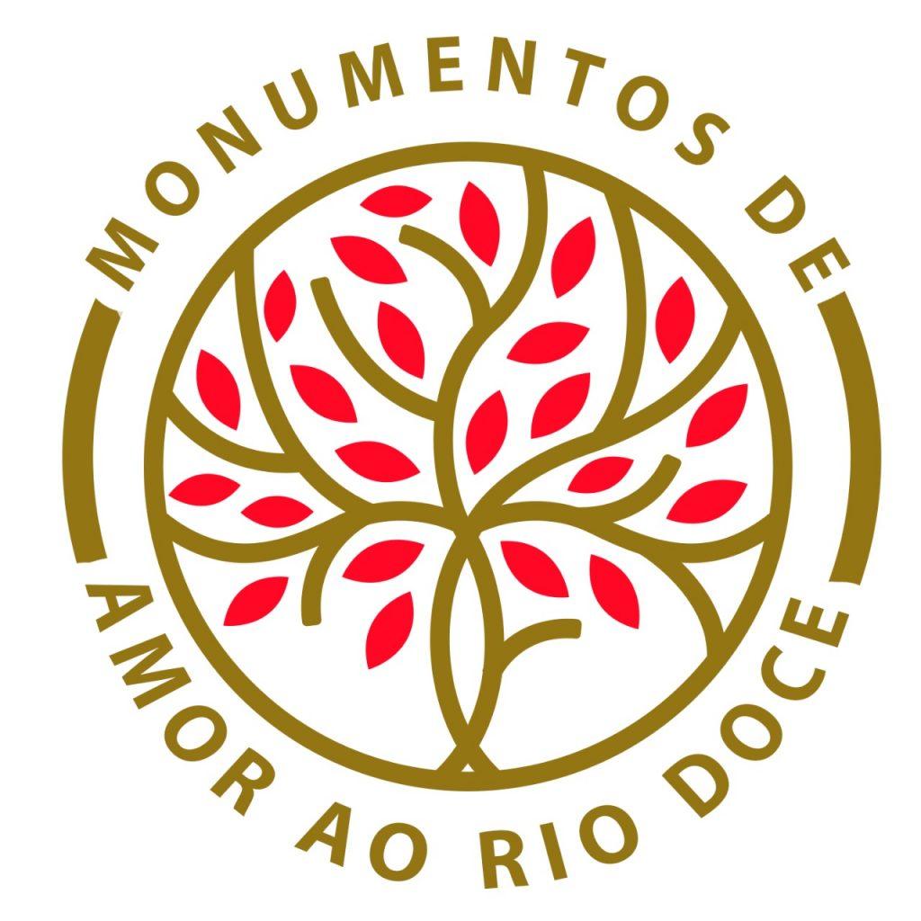 """Marca/selo do Projeto """"Monumento de Amor ao rio Doce"""" (Piatan Lube, 2018).[Créditos da Imagem: Piatan Lube p/ Projeto Monumento de Amor ao Rio Doce. 2018-07.][Cedência: Projeto Monumento de Amor ao Rio Doce 2019-08-27."""