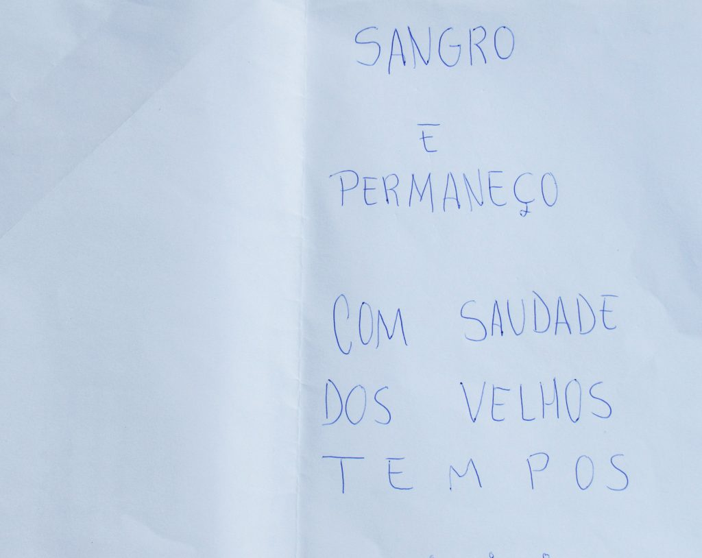 """Carta do projeto """"Monumento de Amor ao rio Doce"""" (Piatan Lube, 2018).[Créditos da Imagem: Piatan Lube p/ Projeto Monumento de Amor ao Rio Doce. 2018-07.][Cedência: Projeto Monumento de Amor ao Rio Doce 2019-08-27."""