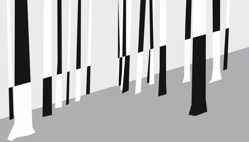 """Projeto digital/Montagem da instalação """"HECHA"""" (Sandro Novaes, 2019).[Créditos da Imagem: Sandro Novaes p/ Projeto Tarumã e  Projeto Arte Pública Capixaba. 2019-07.]"""