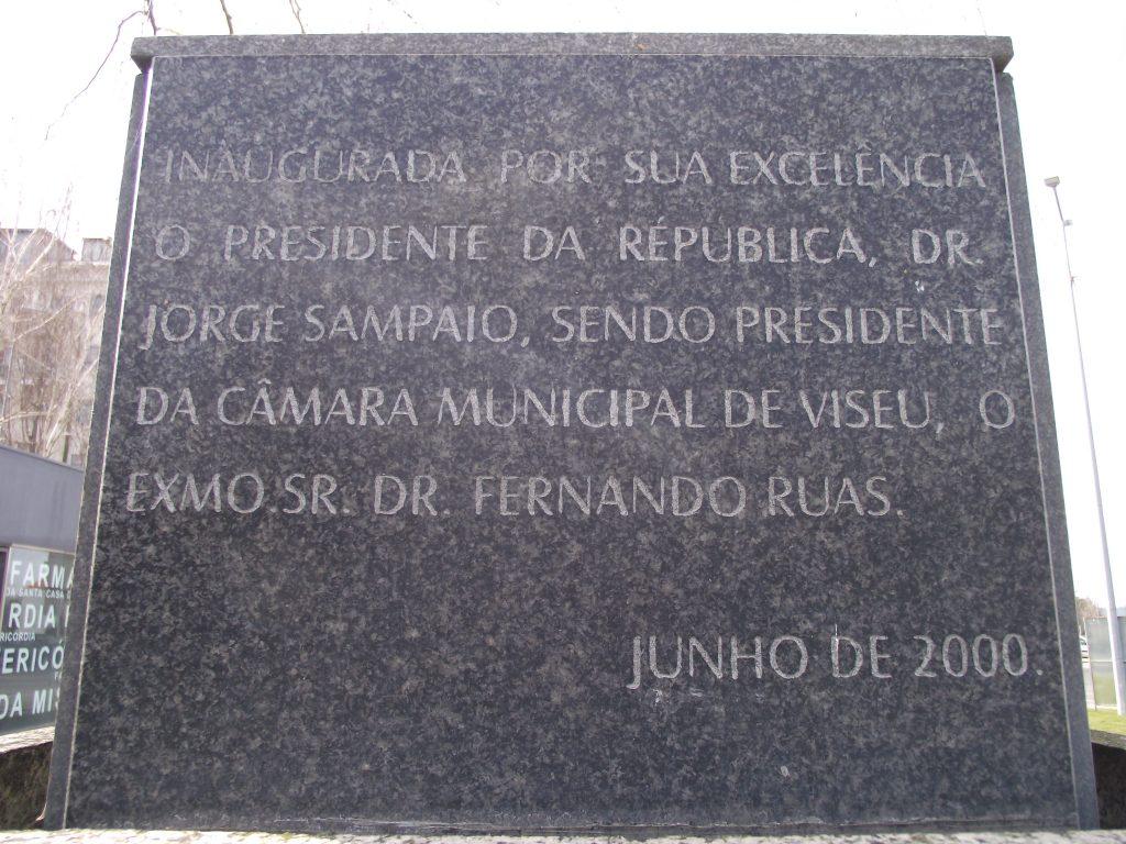 Pormenor da inscrição.[Créditos da imagem: Ruben Marques. 2019-02-17.]