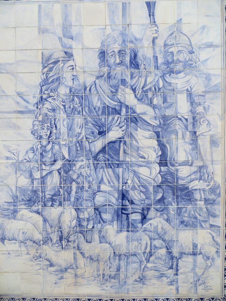 """""""Mural a Viriato"""".[Créditos da imagem: Ruben Marques. 2019-10-15.]"""